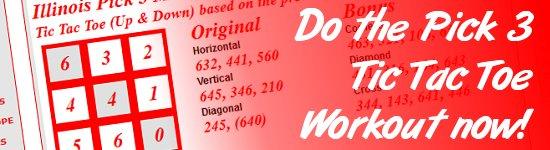 TIC TAC TOE - Information List - Pick 3/4 - - LotteryPrediction net