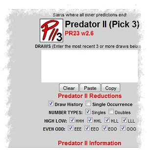 Predator II - New Pick 3 System - If you haven't found the